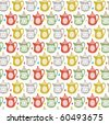teapot seamless pattern - stock vector