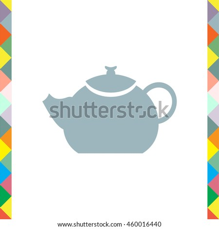 Teapot vector icon. Hot drink sign. Kitchen kettle symbol
