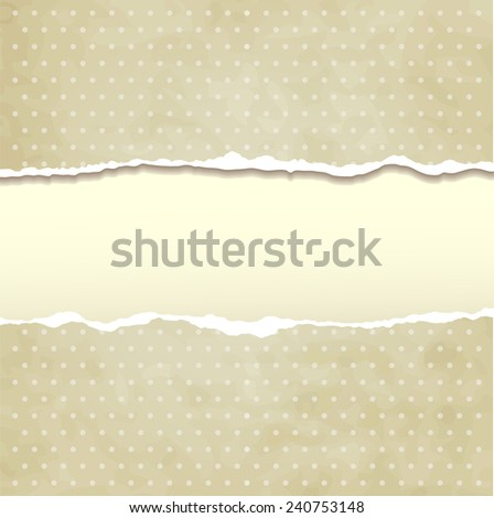 Tear paper on abstract  background - stock vector