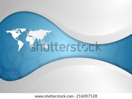 Tech background with waves. Vector design