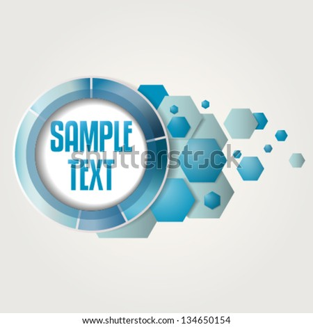 Tech blue metallic logo template. Editable and can be used in IT sector. - stock vector