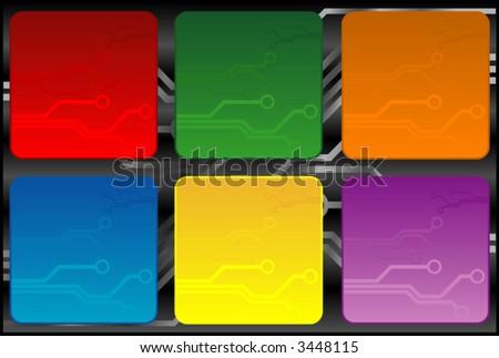 tech boxes - stock vector