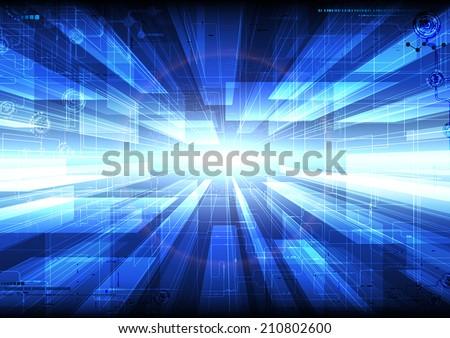 Tech composition. - stock vector