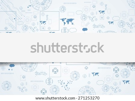 Tech engineering drawing abstract background. Vector design - stock vector