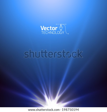 Tech flash, glow experiment - stock vector