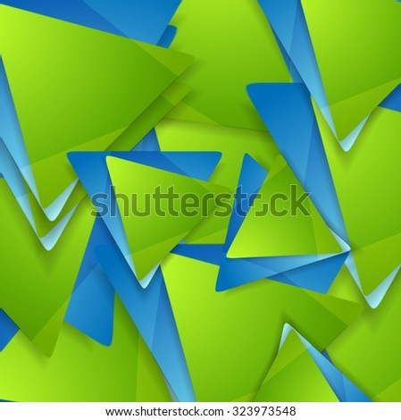 Tech geometric background. Triangles pattern. Vector design - stock vector