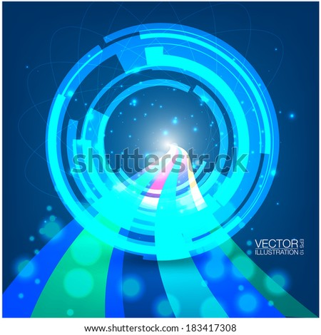 Tech Ring Background - stock vector