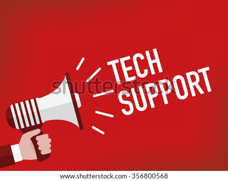 TECH SUPPORT - stock vector