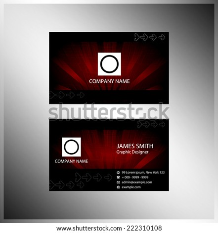 Technical business card - stock vector