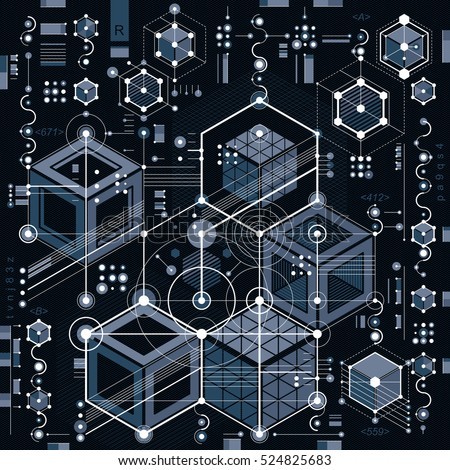 Technical Drawing With Dashed Lines And Geometric Shapes Vector Futuristic Technology Wallpaper Engineering Draft