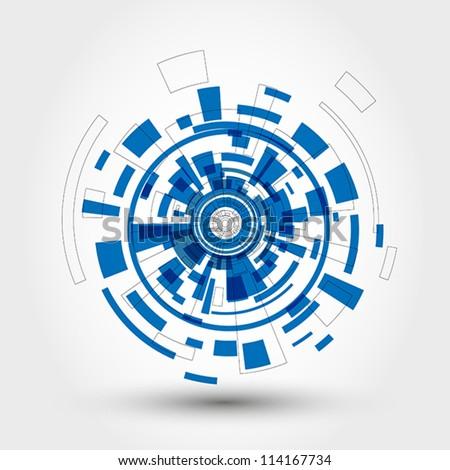 technical element. technical element concept. - stock vector