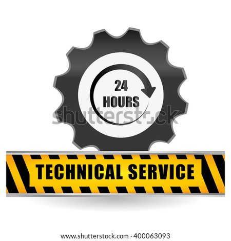 technical service and call center icon design, vector illustration