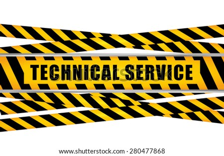 Technical service design over white background, vector illustration.