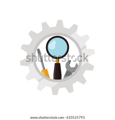 Technical service online icon vector illustration graphic design