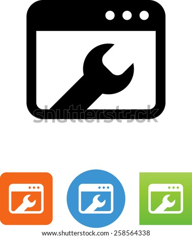 Technical site support symbol for download. Vector icons for video, mobile apps, Web sites and print projects.  - stock vector