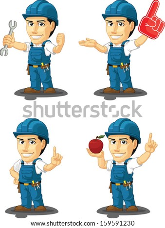 Technician or Repairman Customizable Mascot10