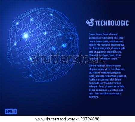 Techno planet background. Vector eps10. - stock vector