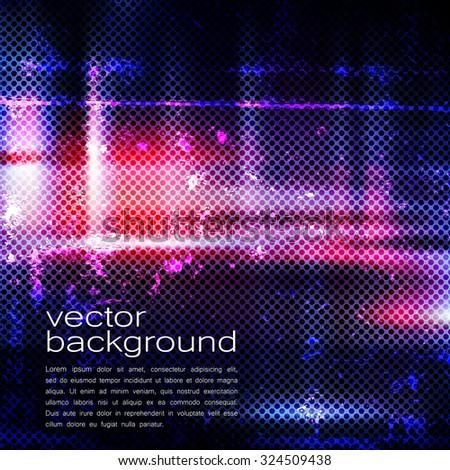 Techno Vector Background Texture of Iron Pattern  - stock vector