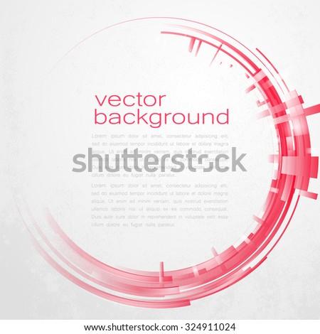 Techno Vector Circle Abstract Background - stock vector