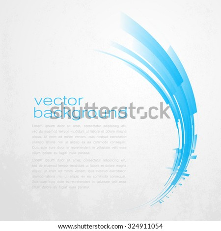 Techno Vector Curve Abstract Background - stock vector