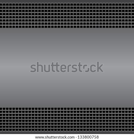 Technological background perforated metal surface  with vents. For internet sites, web user interfaces and applications. Vector Pattern - stock vector