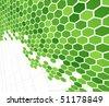 Technological green cells. Vector illustration - stock vector