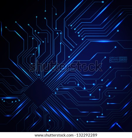 Technological Vector Background Circuit Board Texture Stock Photo ...
