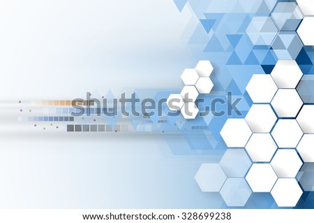 Technology abstract background collection for business solution ideas. Vector image - stock vector