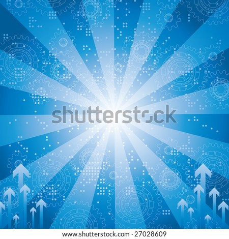 Technology abstract background. Vector. - stock vector