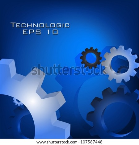Technology abstract background vector concept. - stock vector