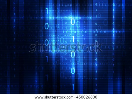 technology abstract digital background, vector illustration - stock vector