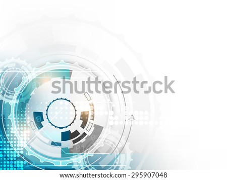 Technology abstract vector background, circle and halftone effect/design with space for your text - stock vector