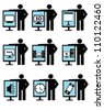 Technology and business ,icon set,Vector - stock vector