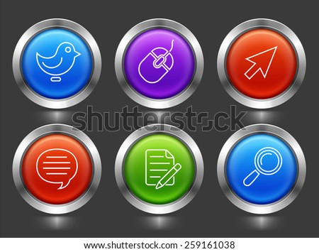 Technology and Communication icon set