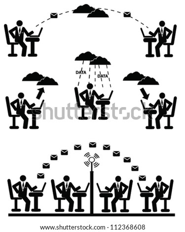 Technology and network concept,icon set,Vector