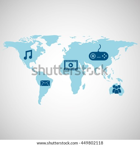 technology app connection weareable isolated, vector illustration