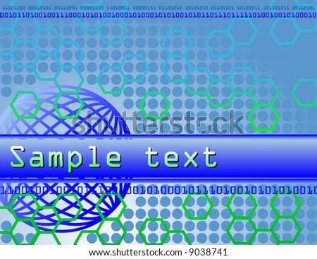 technology background - stock vector