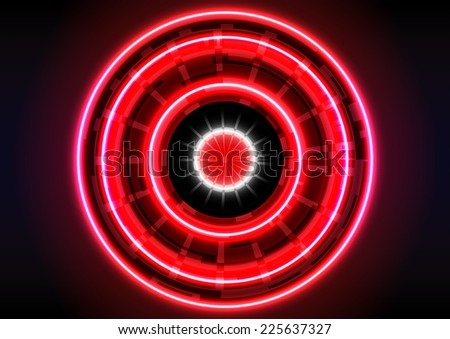 technology  background circle light red effect