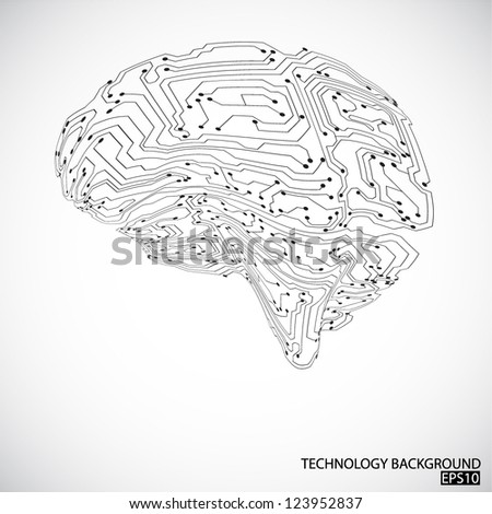Technology background. EPS10 vector