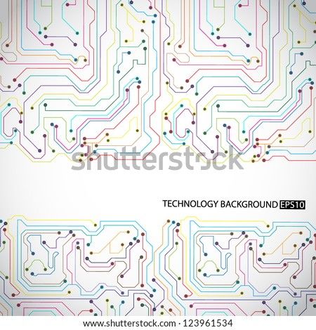 Technology background. EPS10 vector - stock vector