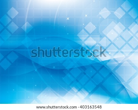 Technology background futuristic abstract blue and digital bright lights, design of vector illustration. - stock vector