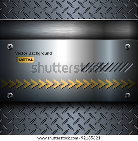 Technology background, metallic with diamond plate texture.. - stock vector