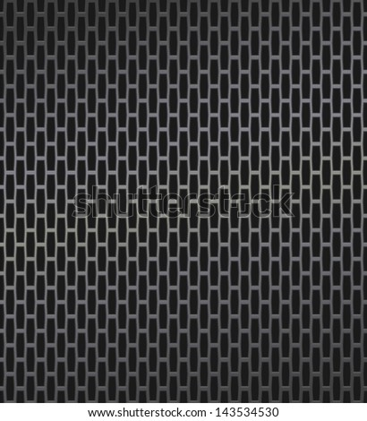 Technology background with dark metal texture. Seamless perforated pattern for web user interfaces (GUI), applications (apps) and business presentations.