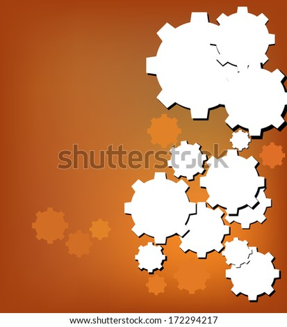 Technology background with gear wheel, web user interfaces and applications. Vector background.