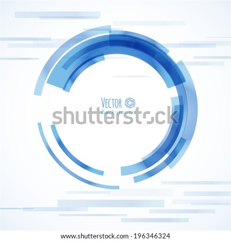 Technology circle. Abstract background  - stock vector