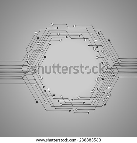 Technology circuit board illustration for your text . Business background .