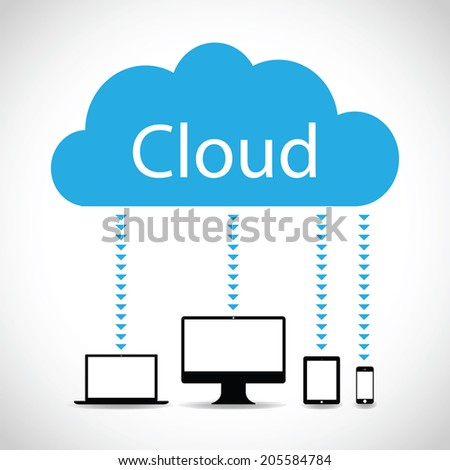 technology cloud background - stock vector