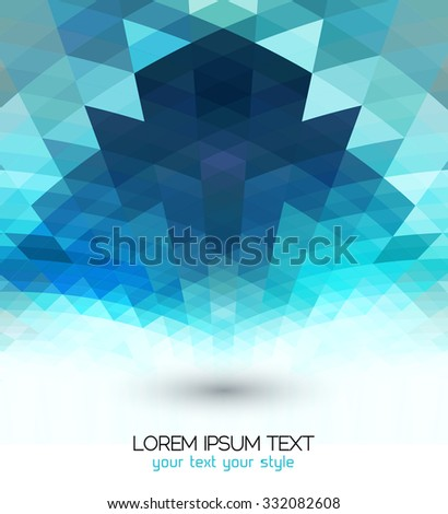Technology concept abstract geometric background, brochure cover template design - stock vector