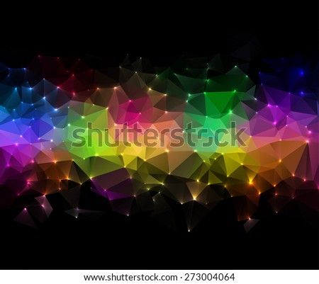 Technology concept abstract polygonal background, digital map illustration - stock vector