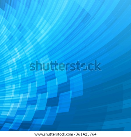 Technology concept abstract shiny blue futuristic background - stock vector